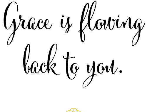 soulwhisper Grace is flowing back to you